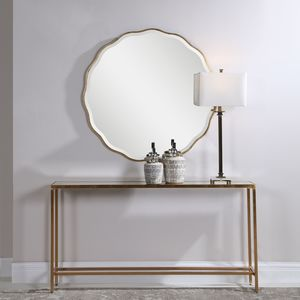 Thumbnail of Uttermost Company - Aneta Gold Round Mirror
