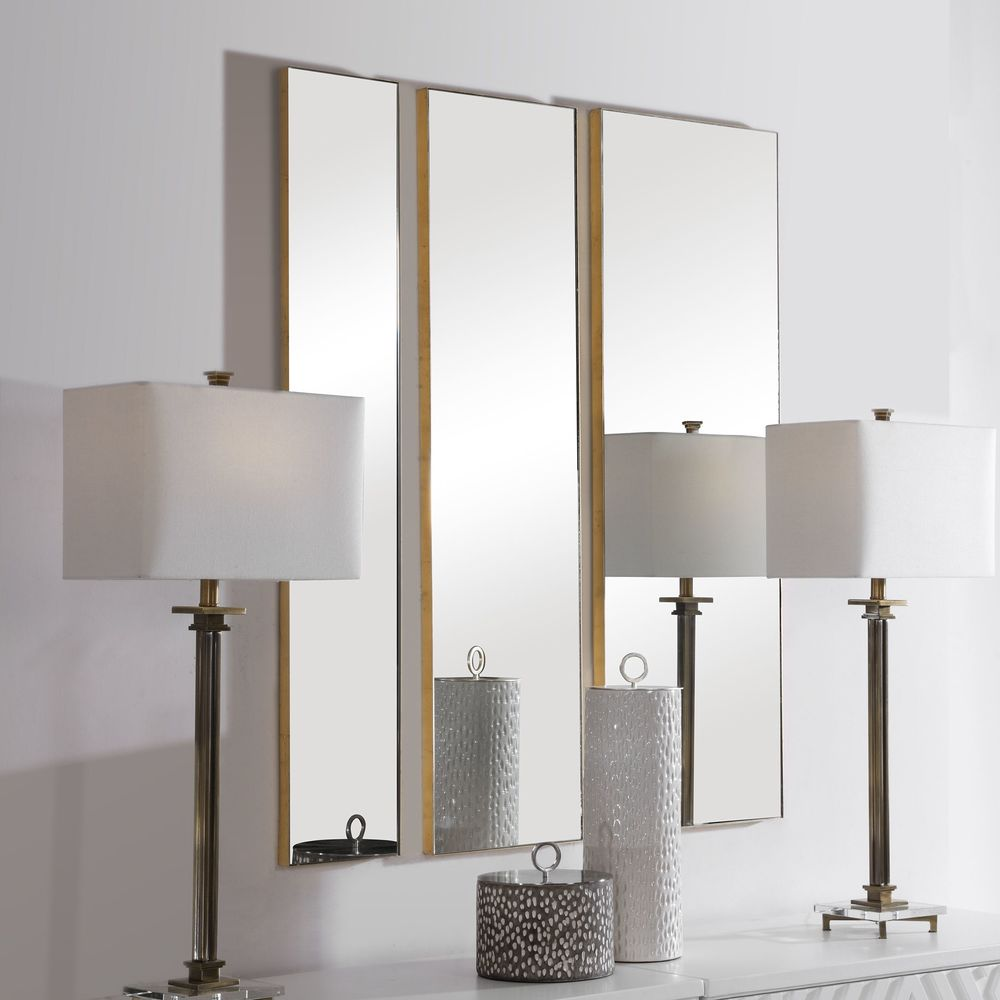 Uttermost Company - Rowling Gold Mirrors, Set/3
