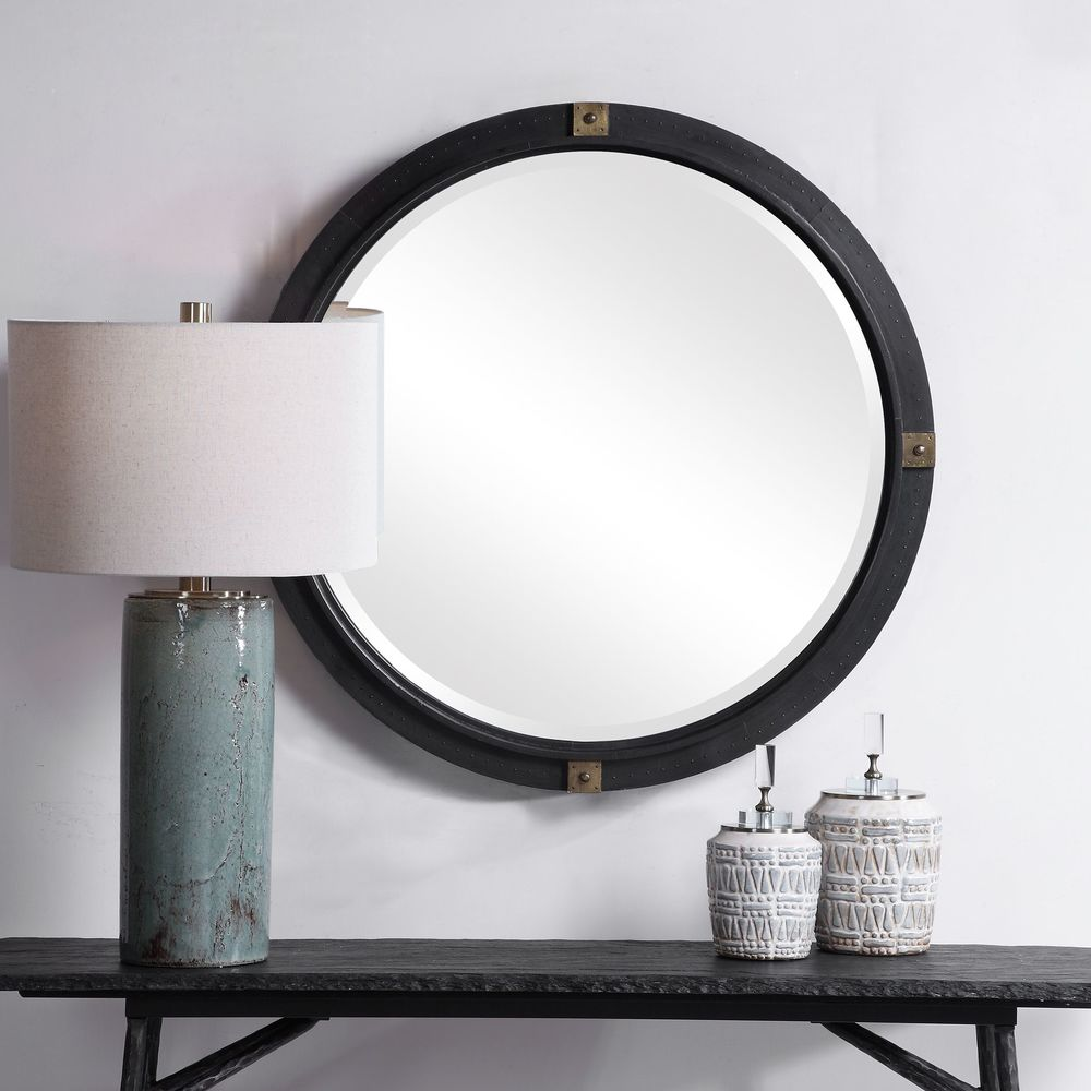 Uttermost Company - Tull Industrial Round Mirror