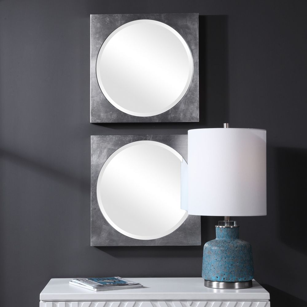 Uttermost Company - Aletris Modern Square Mirrors, Set/2