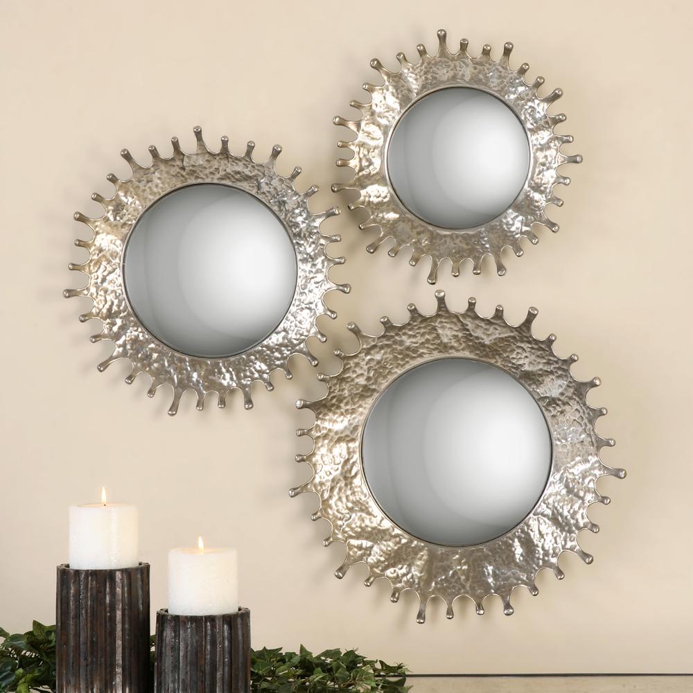 Uttermost Company - Rain Splash Round Mirrors, Set/3