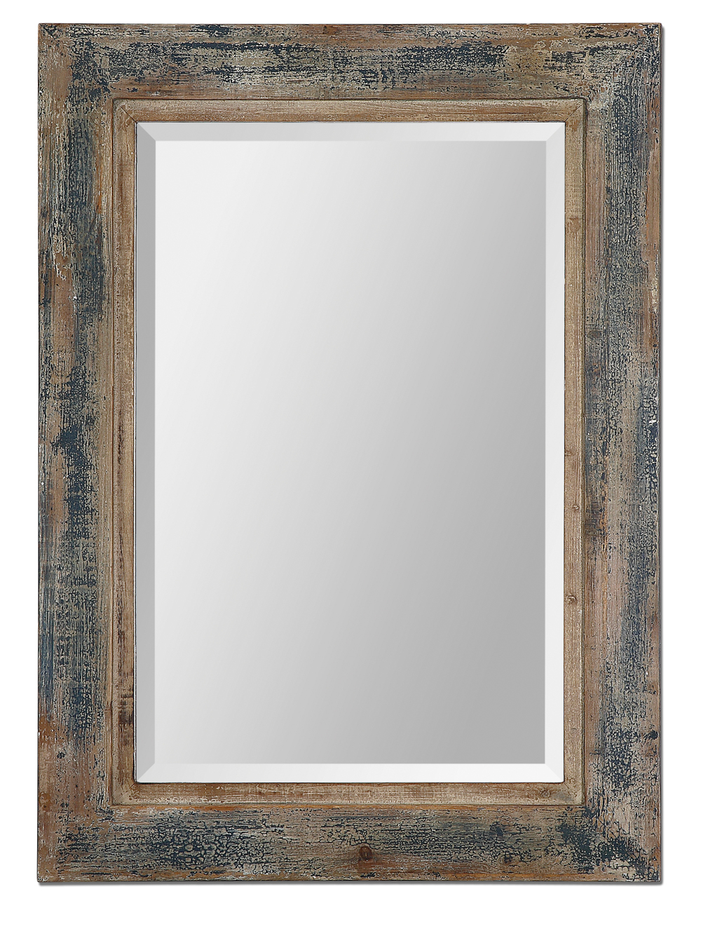 Uttermost Company - Bozeman Distressed Blue Mirror
