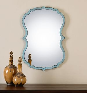 Thumbnail of Uttermost Company - Nicola Light Blue Mirror