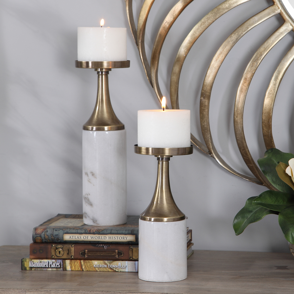 Uttermost Company - Castiel Candle Holders, Set/2