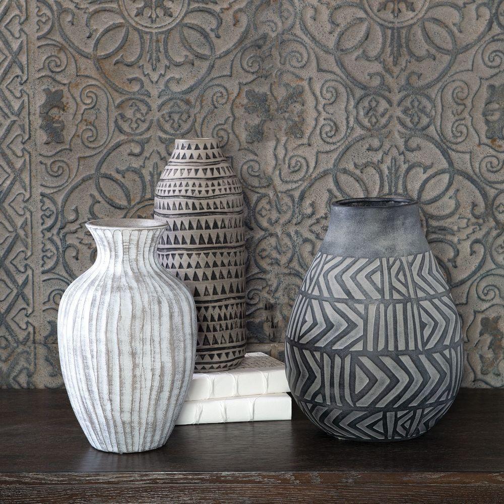 Uttermost Company - Natchez Geometric Vases, Set/3