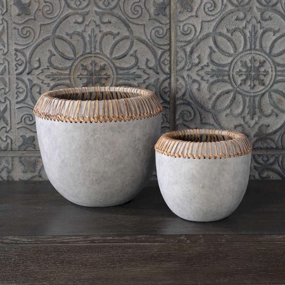 Uttermost Company - Aponi Concrete Ray Bowls, Set/2