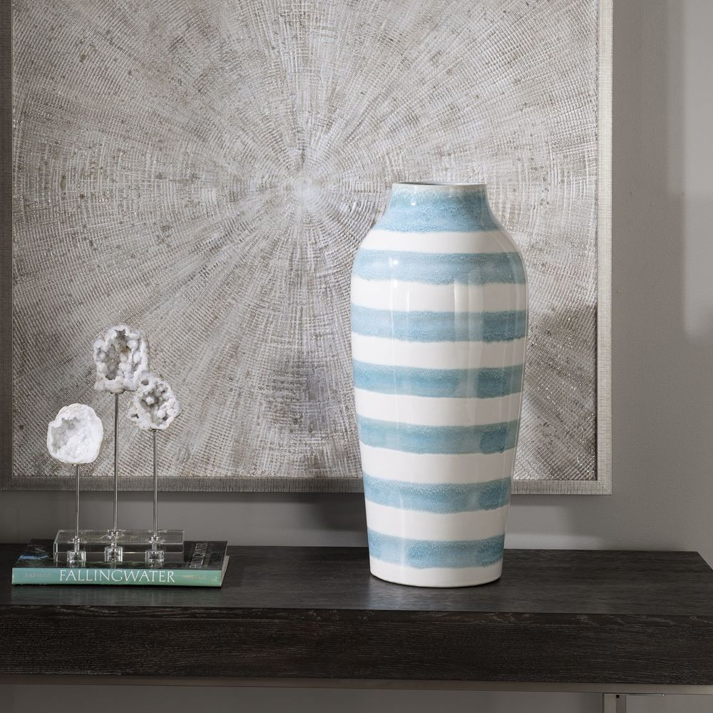 Uttermost Company - Ortun Striped Vase