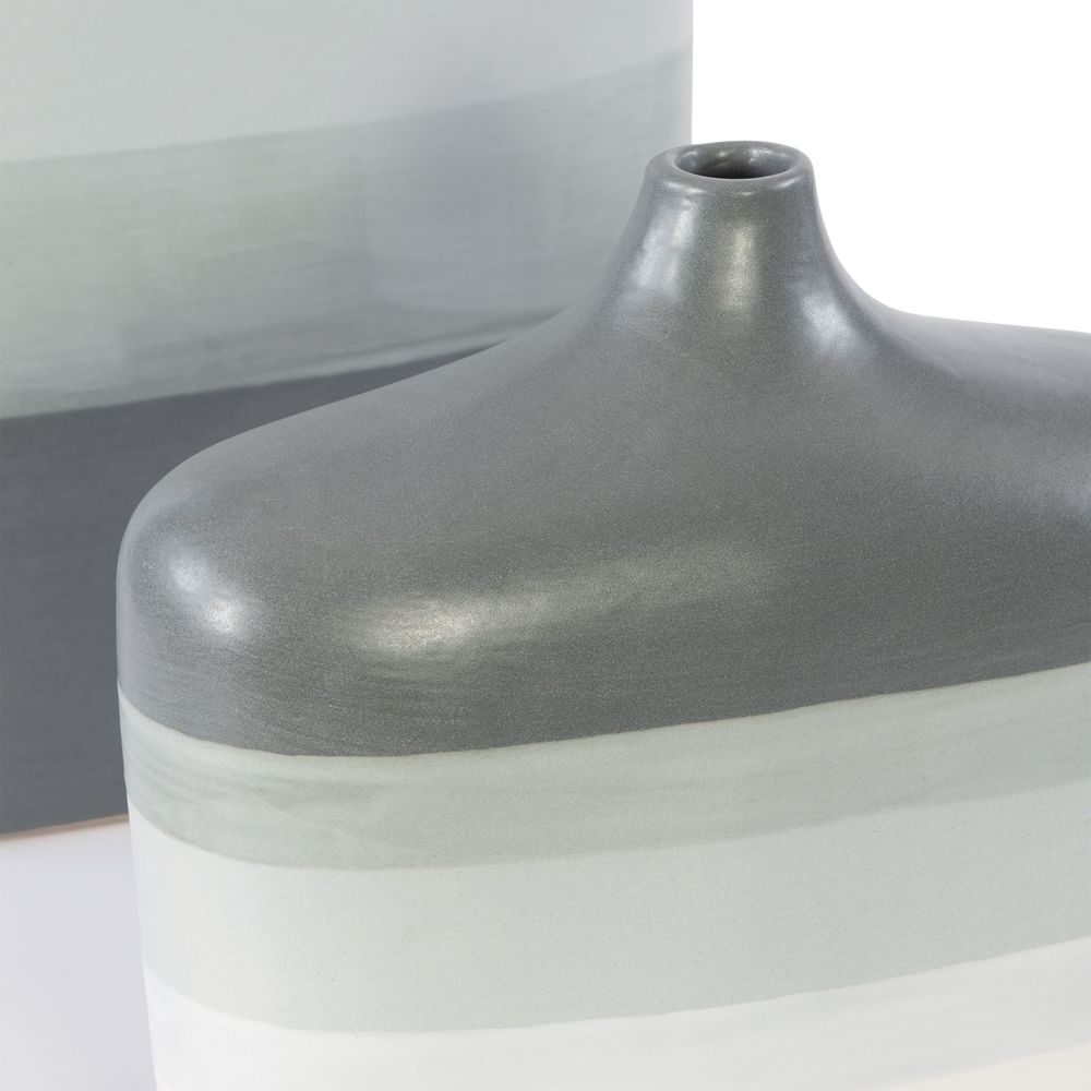 Uttermost Company - Guevara Striped Gray Vases, Set/2
