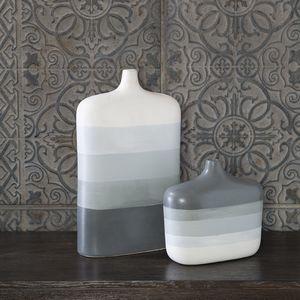 Thumbnail of Uttermost Company - Guevara Striped Gray Vases, Set/2