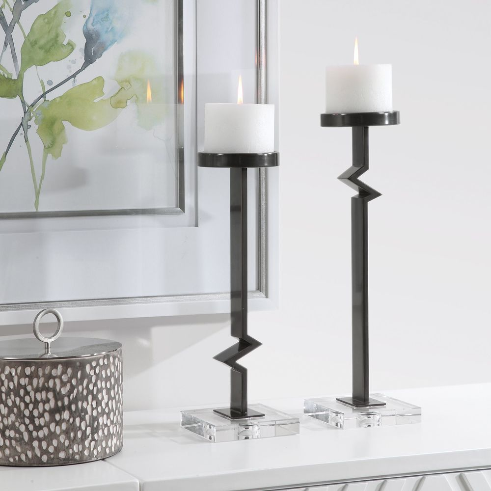 Uttermost Company - Daelan Contemporary Candle Holders, Set/2