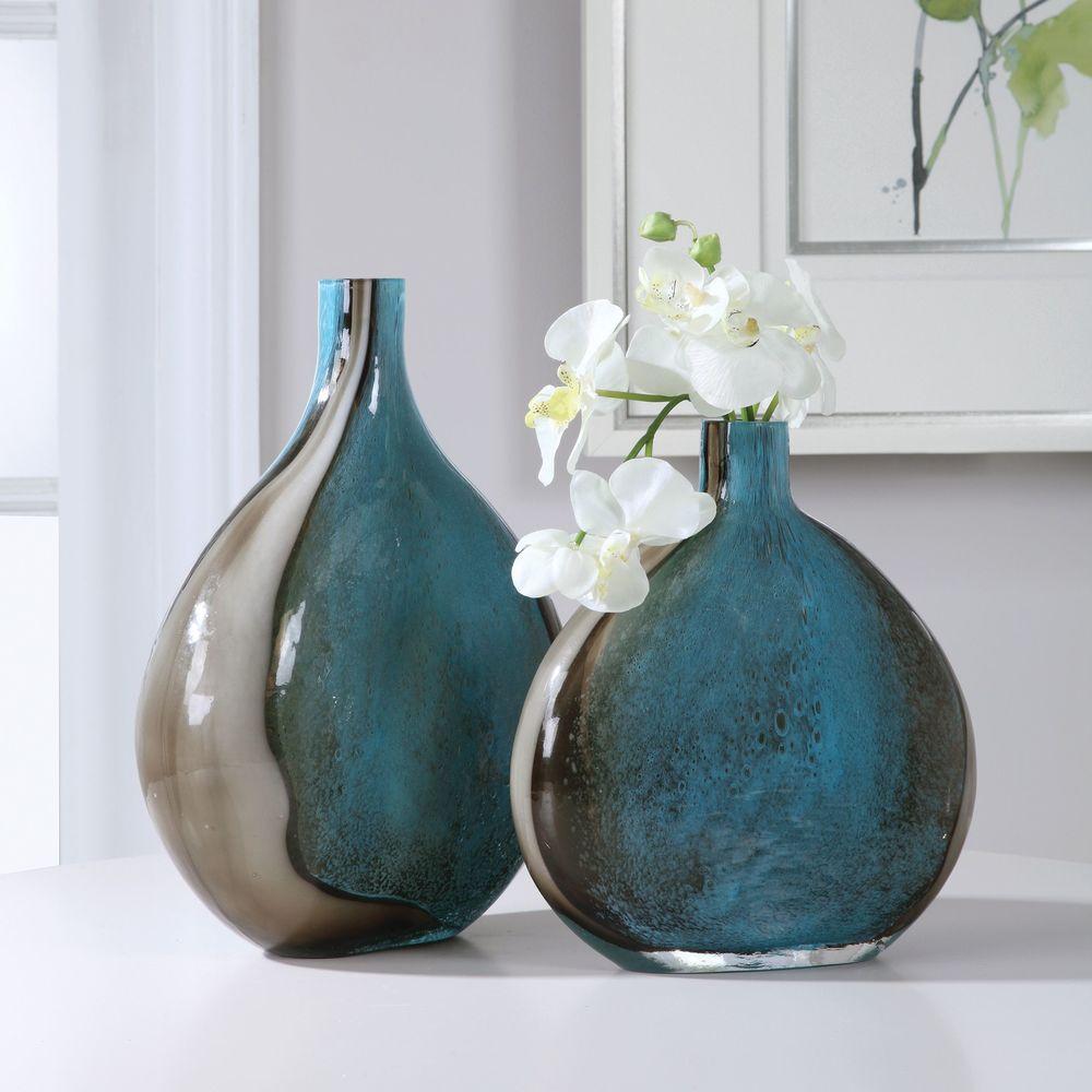 Uttermost Company - Adrie Art Glass Vases, Set/2