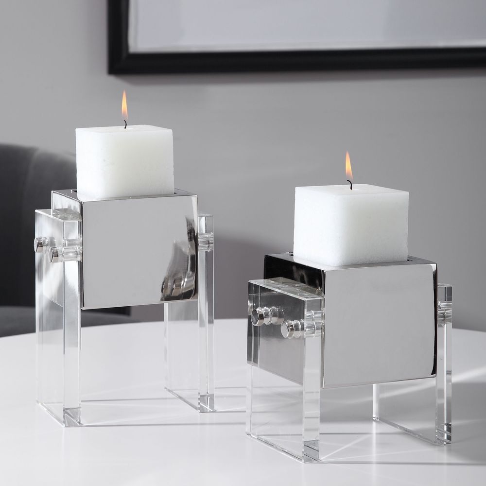 Uttermost Company - Sutton Candle Holders, Set of 2
