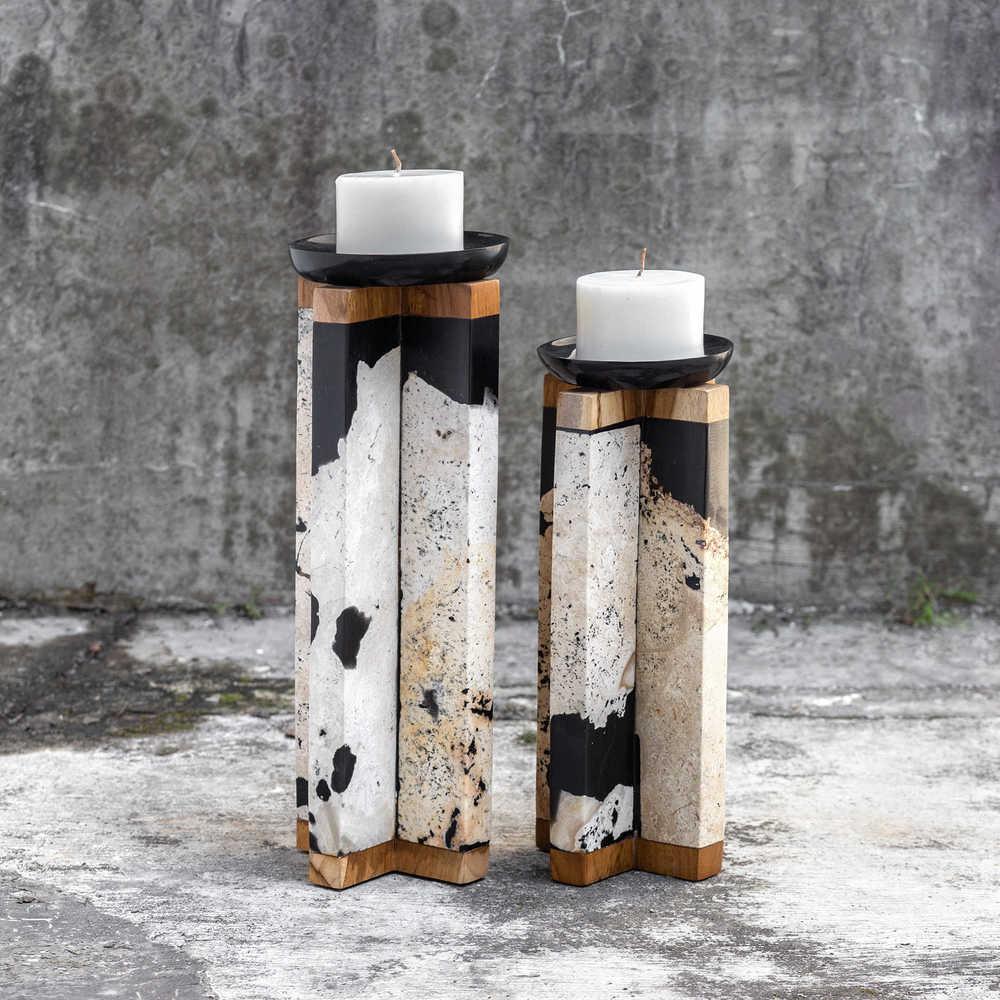 Uttermost Company - Illini Candle Holders, Set of 2