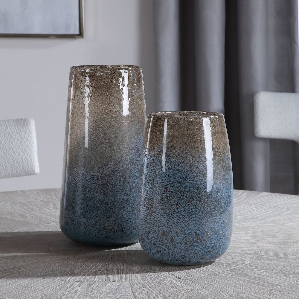 Uttermost Company - Ione Seeded Glass Vases, Set/2
