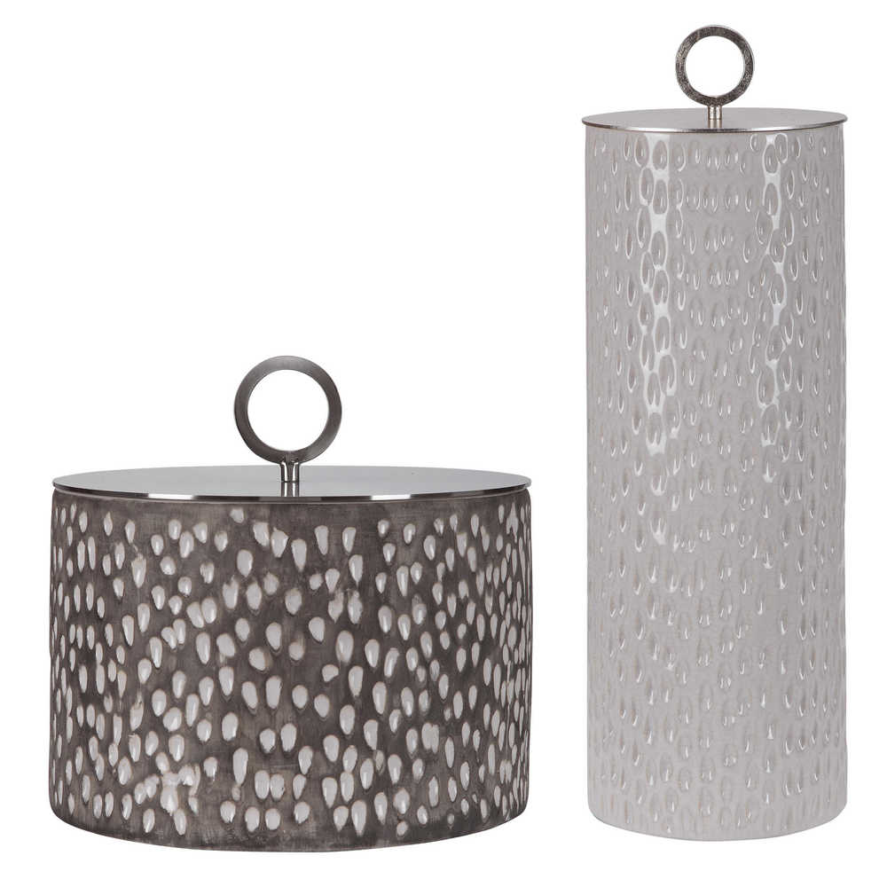 Uttermost Company - Cyprien Ceramic Containers, Set/2