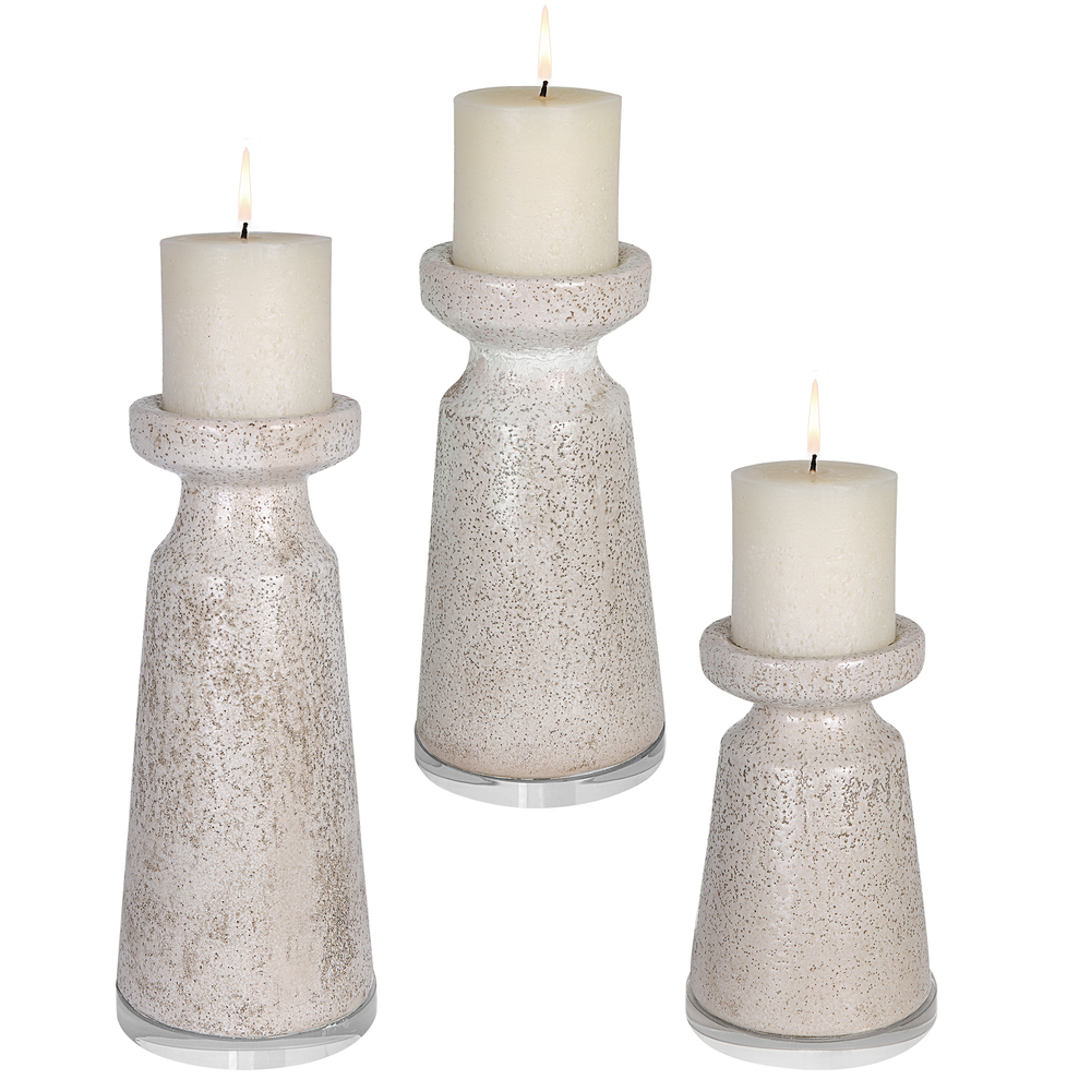 Uttermost Company - Kyan Ceramic Candle Holders, Set/3
