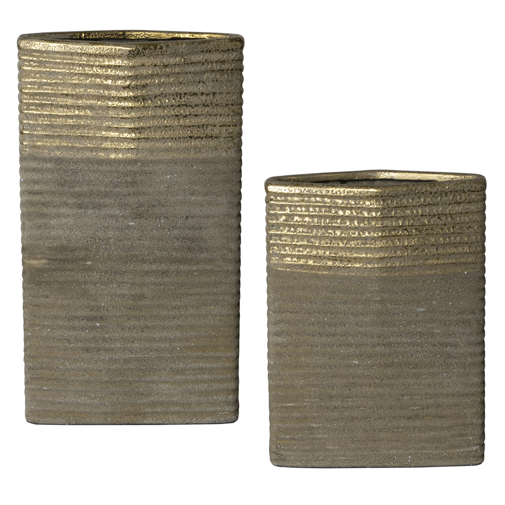 Uttermost Company - Riaan Ribbed Vases, Set/2