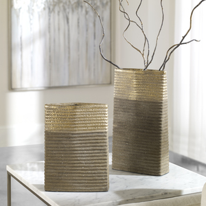 Thumbnail of Uttermost Company - Riaan Ribbed Vases, Set/2