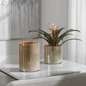 Thumbnail of Uttermost Company - Tangelo Beige Orange Vases, Set/2