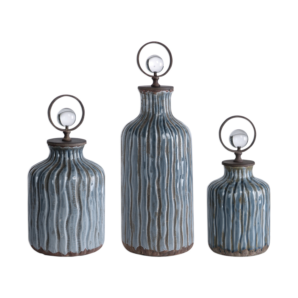 Uttermost Company - Mathias Bottles, Set/3