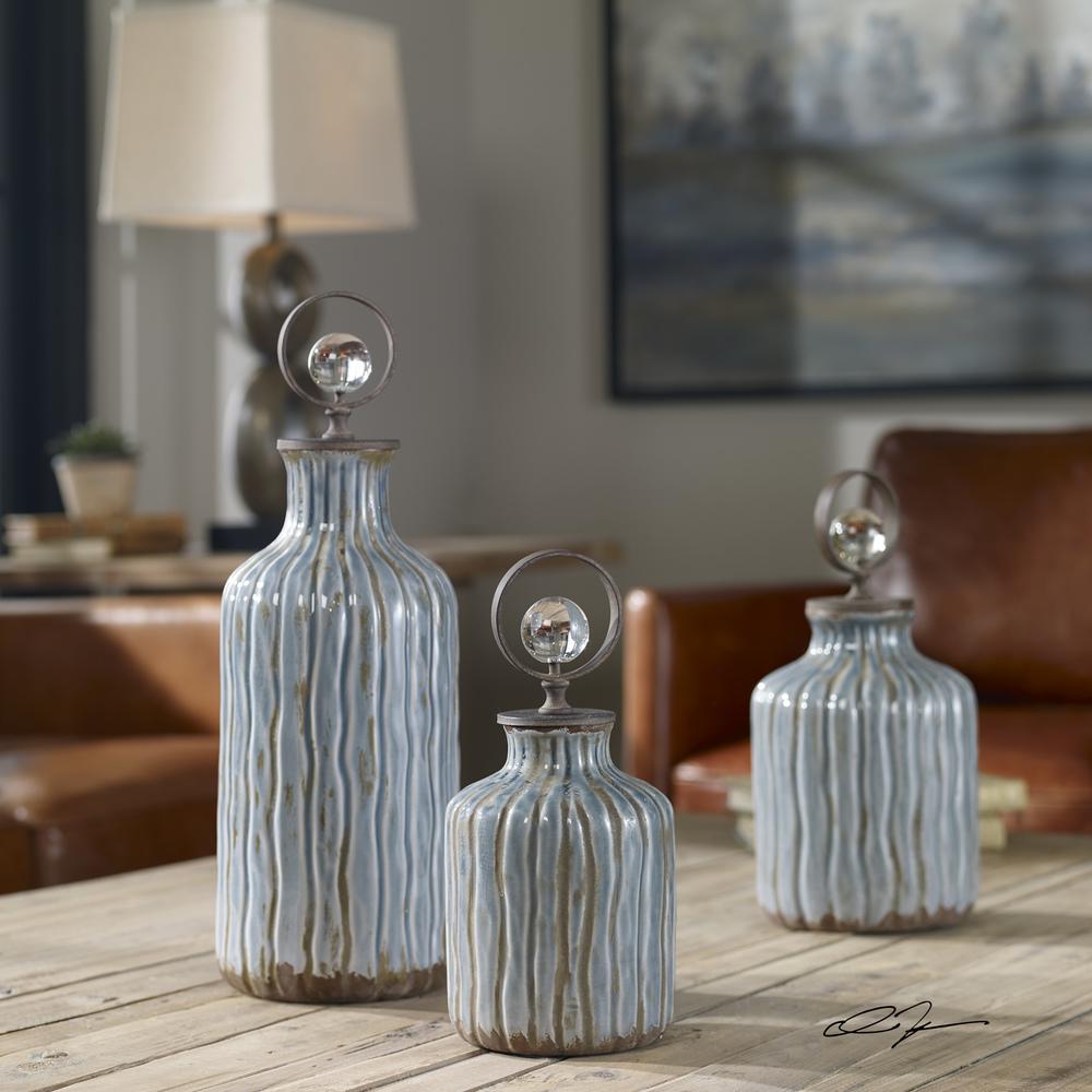 Uttermost Company - Mathias Bottles, Set/3