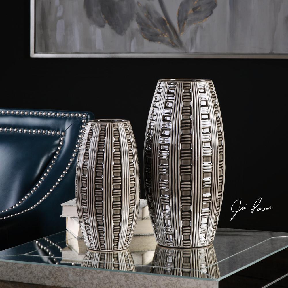 Uttermost Company - Aura Weave Pattern Vases, Set/2