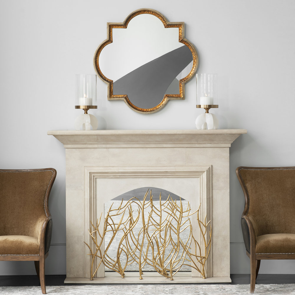 Uttermost Company - Gold Branches Decorative Fireplace Screen