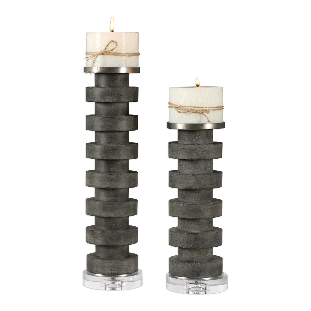 Uttermost Company - Karun Candle Holders, Set/2