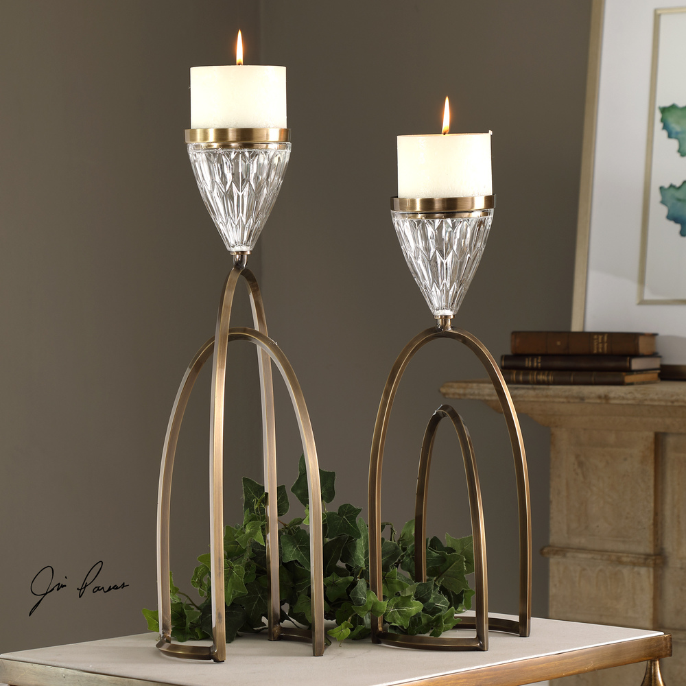 Uttermost Company - Carma Candle Holders, Set/2