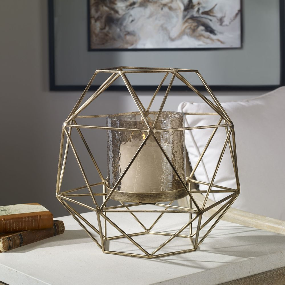 Uttermost Company - Myah Geometric Gold Candle Holder