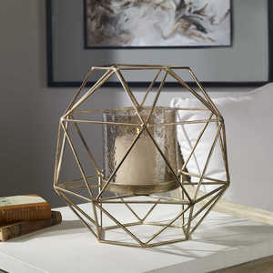 Thumbnail of Uttermost Company - Myah Geometric Gold Candle Holder