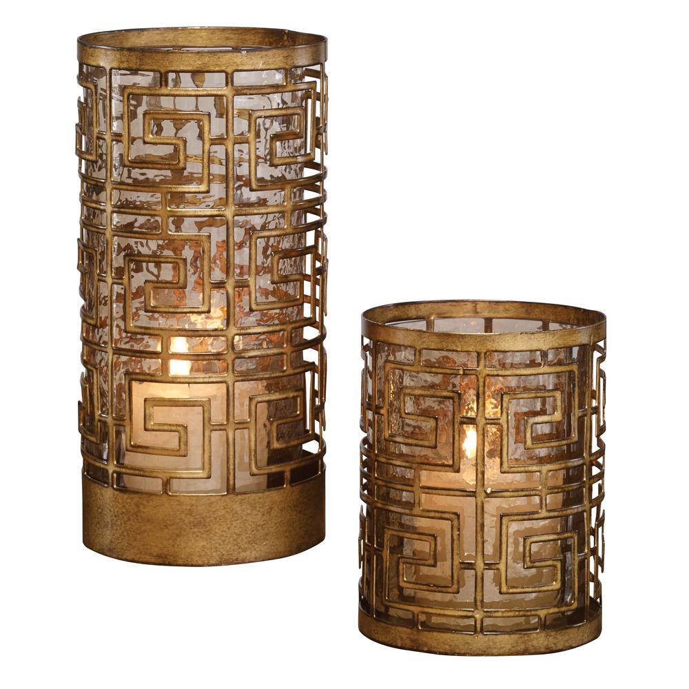 Uttermost Company - Ruhi Hurricane Candle Holders, Set/2