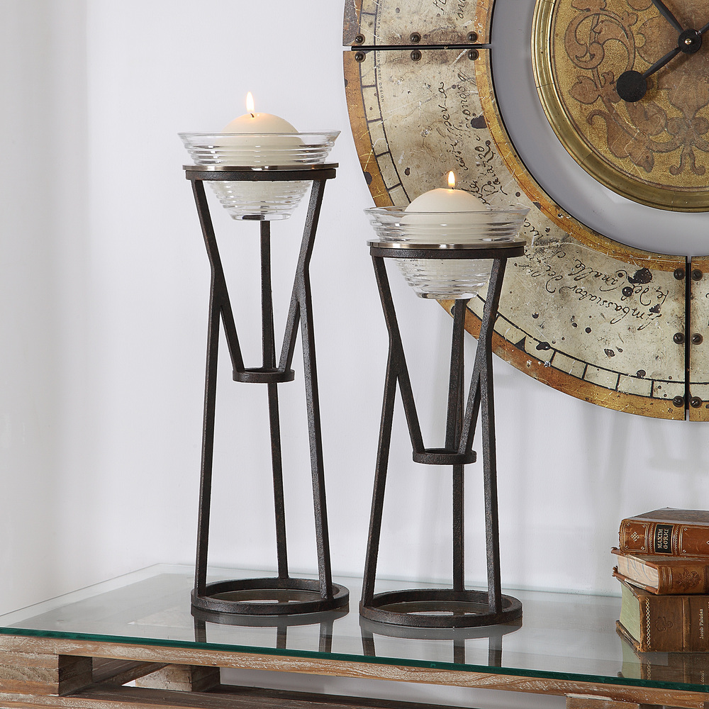Uttermost Company - Lane Candle Holders, Set/2
