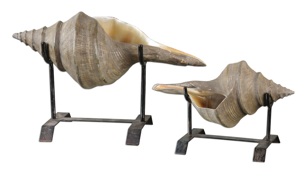Uttermost Company - Conch Shell Sculpture, Set/2