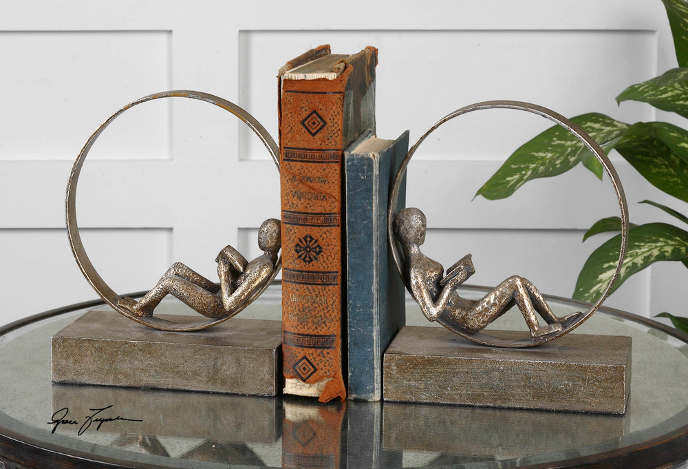 Uttermost Company - Lounging Reader Bookends, Set/2
