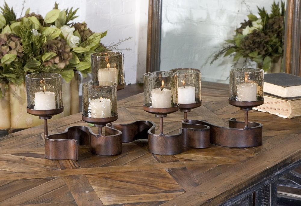 Uttermost Company - Ribbon Candle Holder