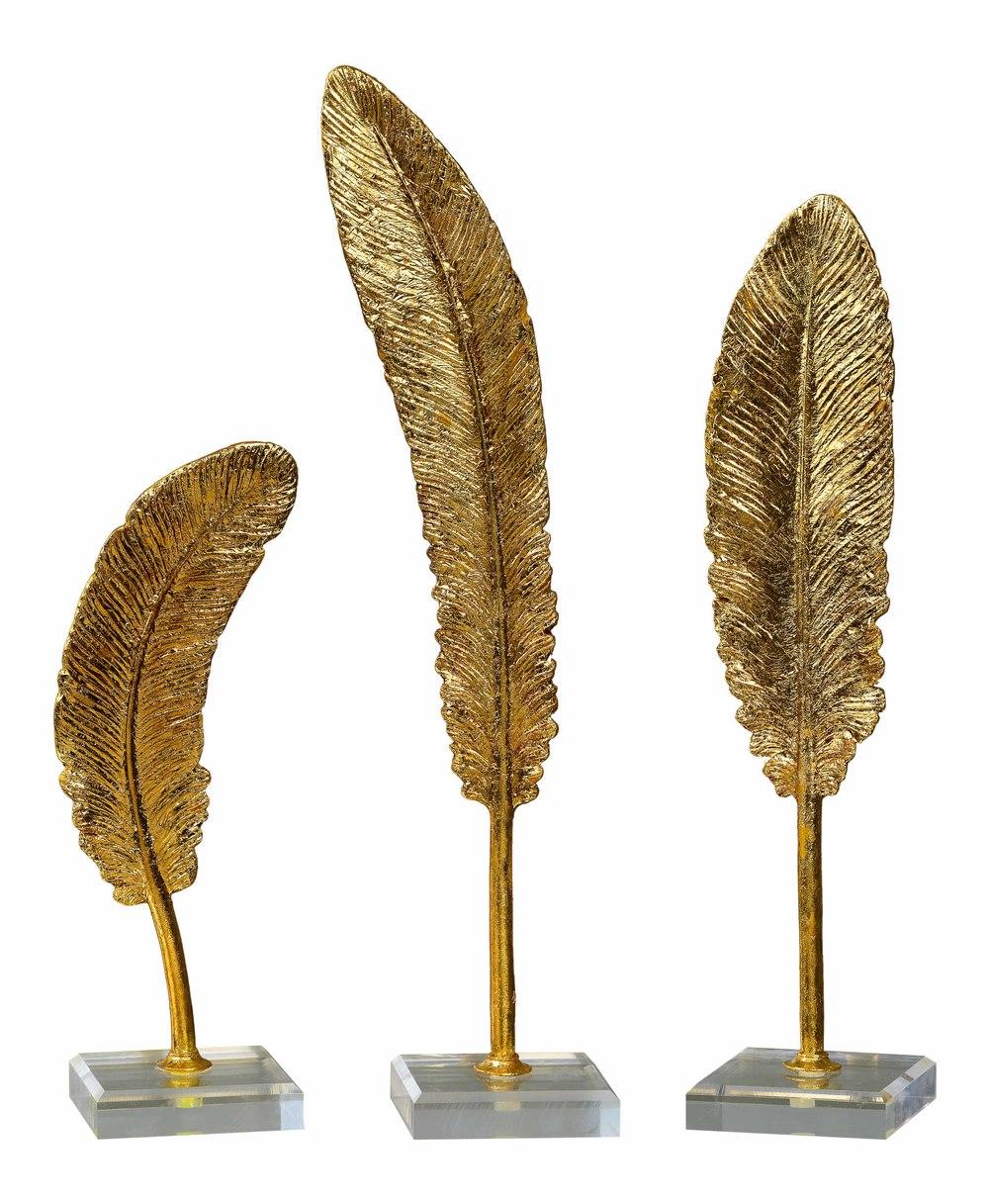 Uttermost Company - Feathers Sculpture, Set/3