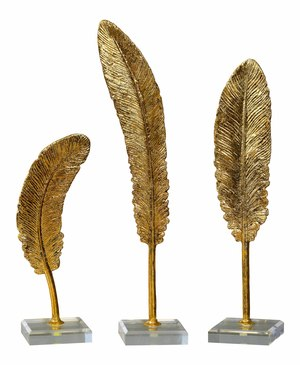 Thumbnail of Uttermost Company - Feathers Sculpture, Set/3