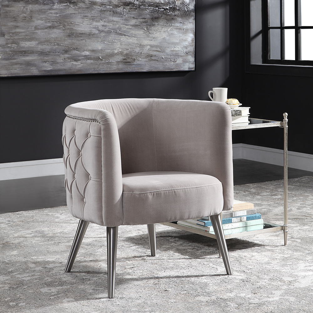 Uttermost Company - Haider Accent Chair, Champagne