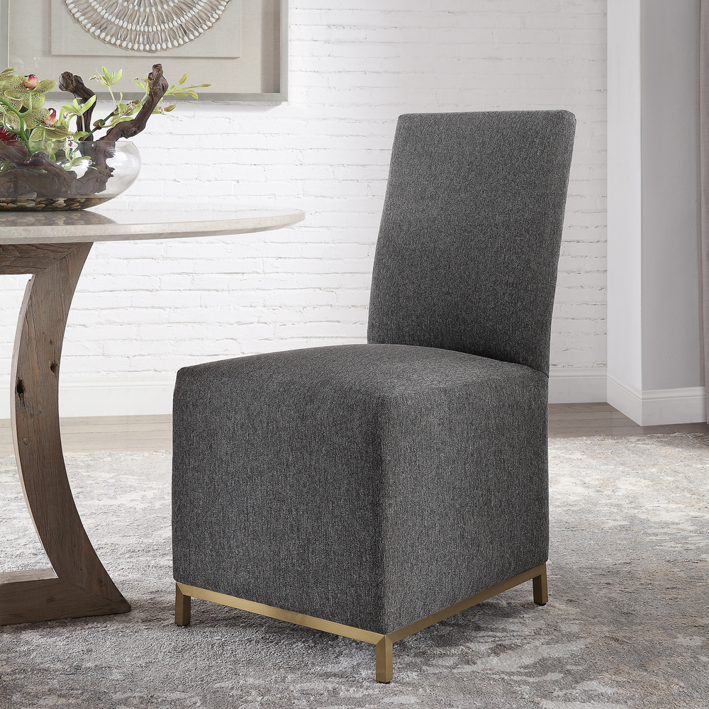 Uttermost Company - Gerard Armless Charcoal Dining Chairs
