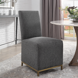 Thumbnail of Uttermost Company - Gerard Armless Charcoal Dining Chairs