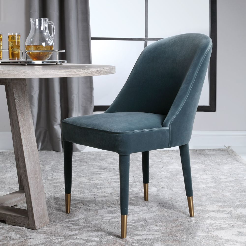 Uttermost Company - Brie Blue Armless Chair
