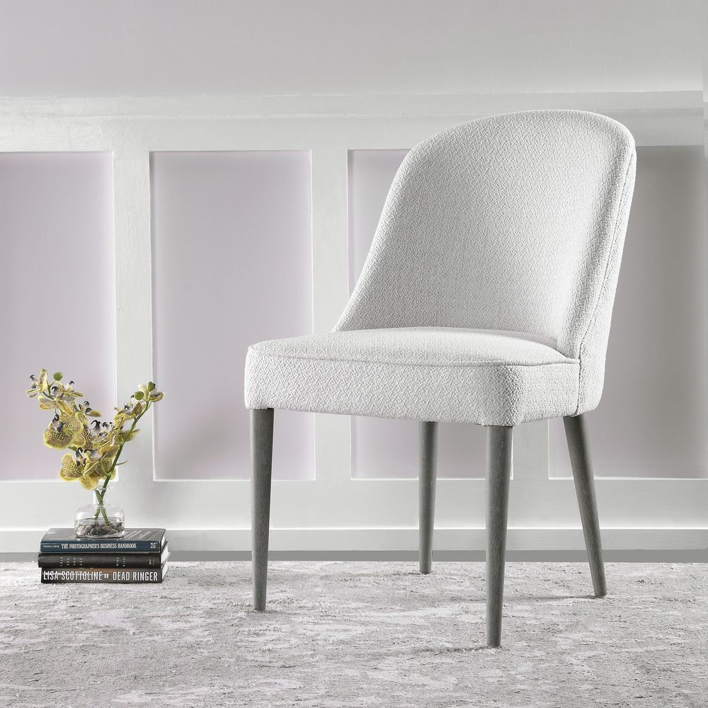 Uttermost Company - Brie White Armless Chair