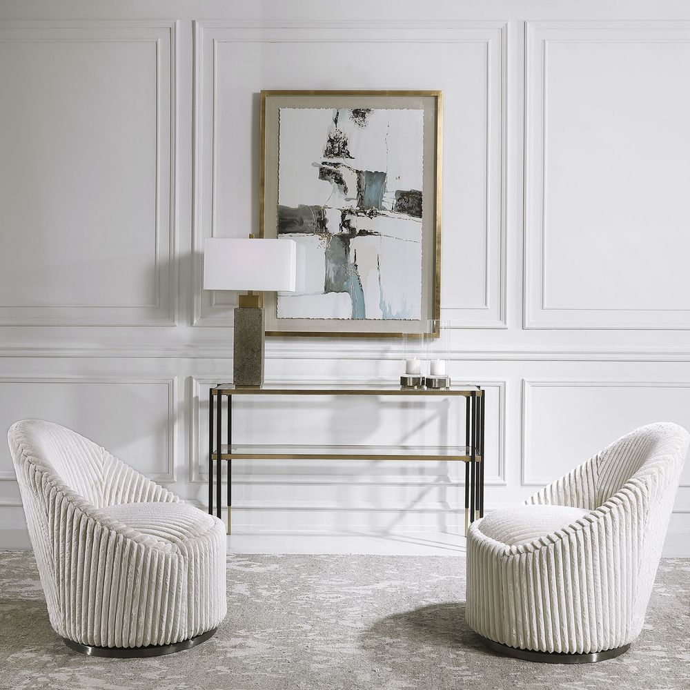 Uttermost Company - Crue Swivel Chair