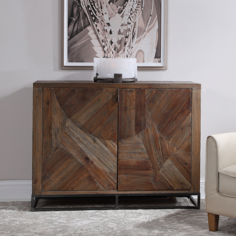 Uttermost Company - Evros Reclaimed Wood Two Door Cabinet