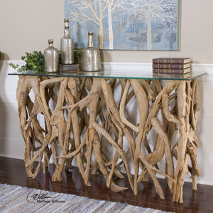 Thumbnail of Uttermost Company - Teak Wood Console