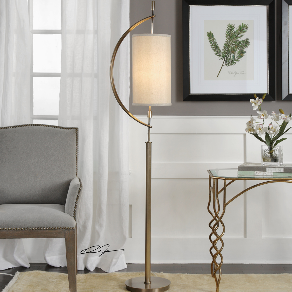 Uttermost Company - Balaour Antique Brass Floor Lamp
