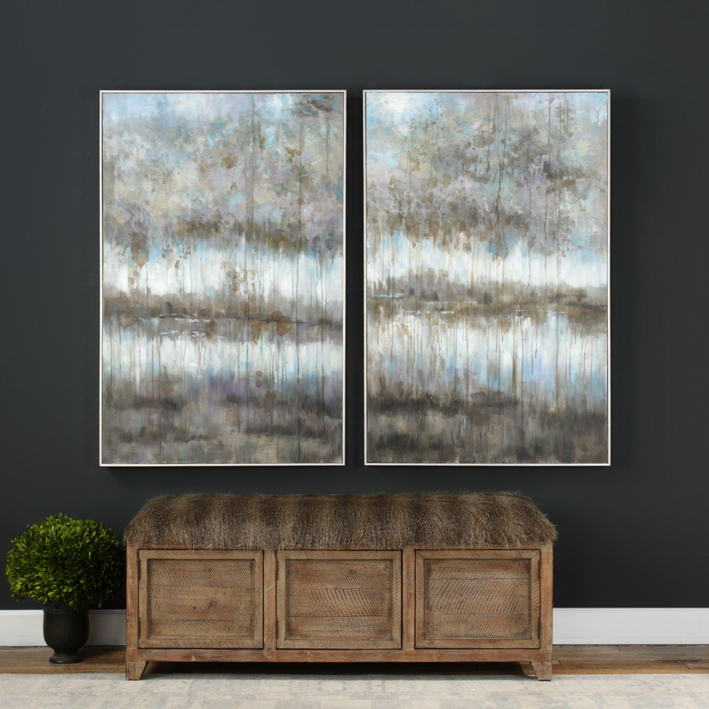 Uttermost Company - Gray Reflections Hand Painted Canvas, Set/2