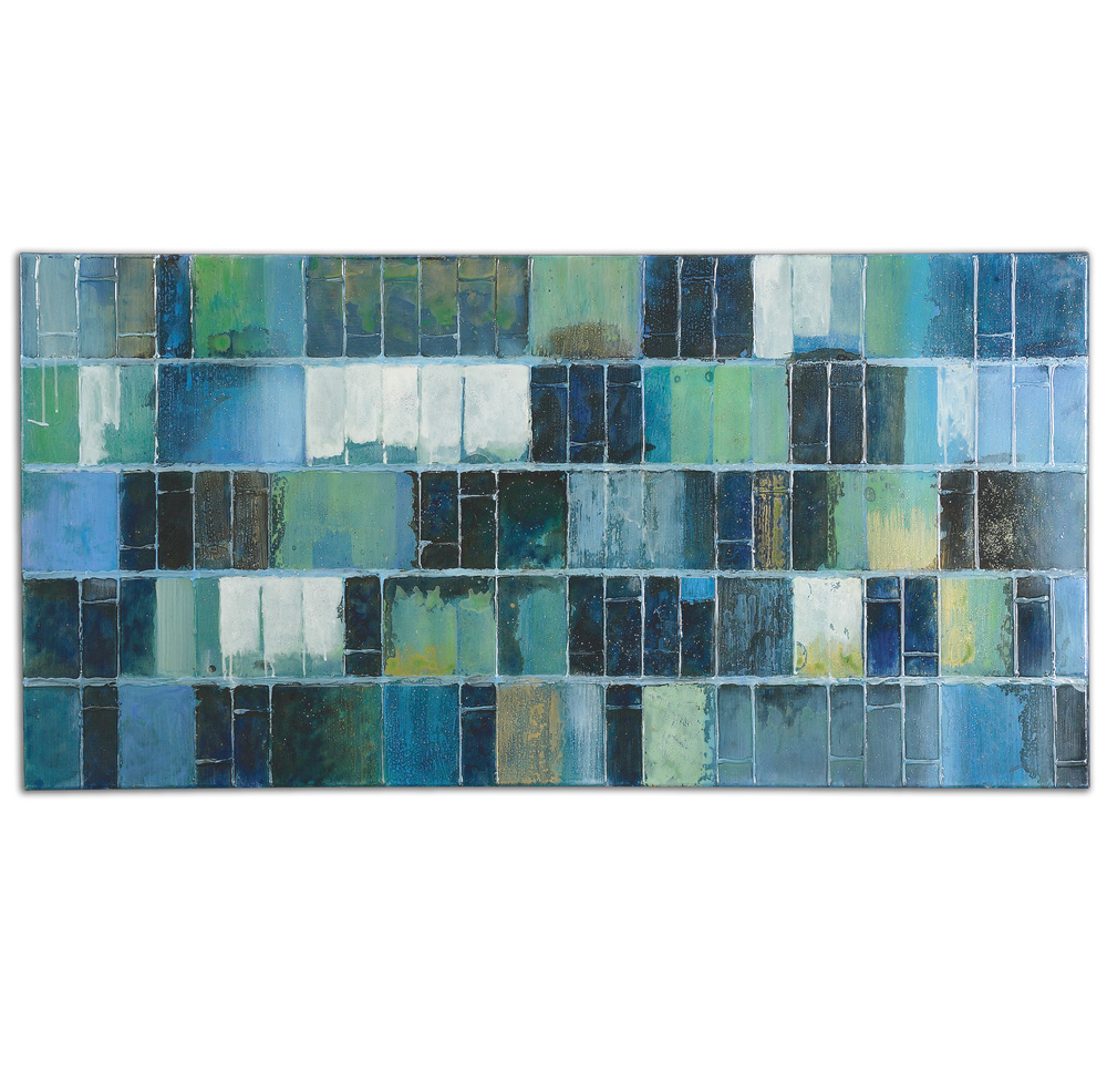 Uttermost Company - Glass Tiles Hand Painted Canvas