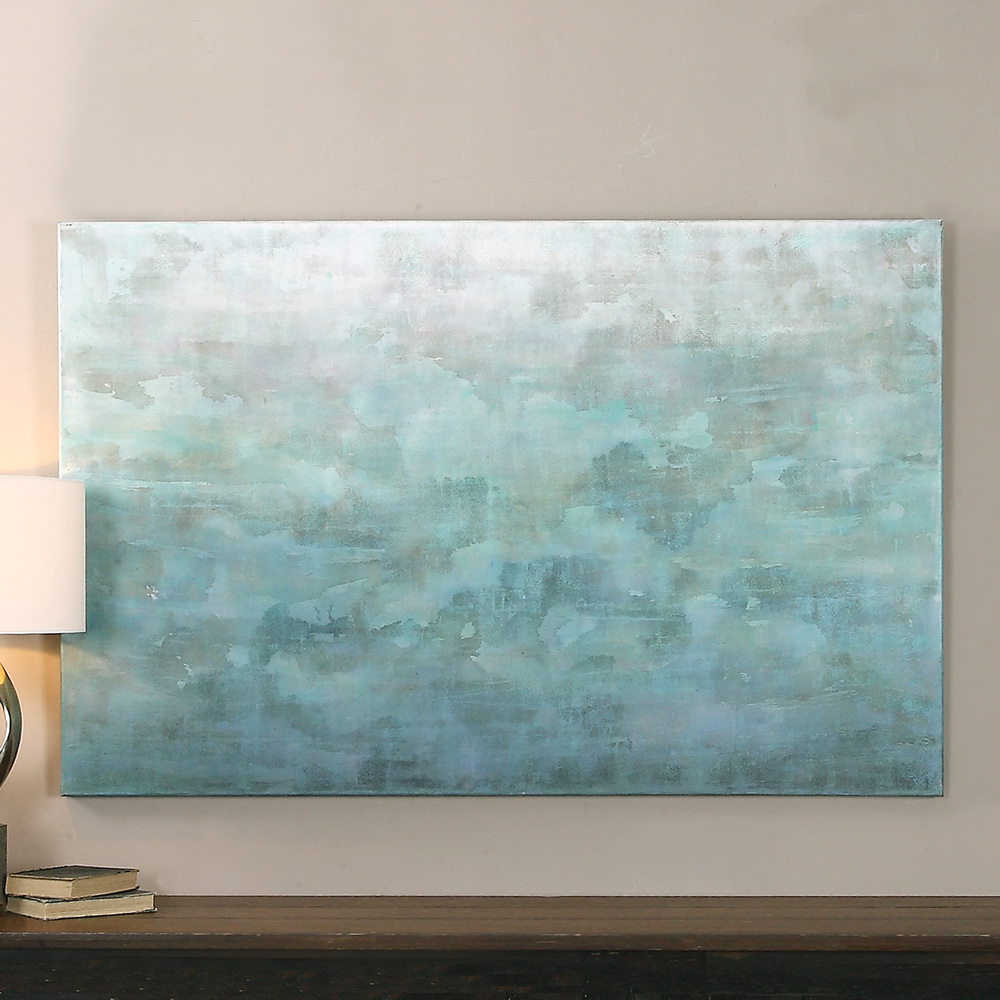 Uttermost Company - Frosted Landscape Hand Painted Canvas